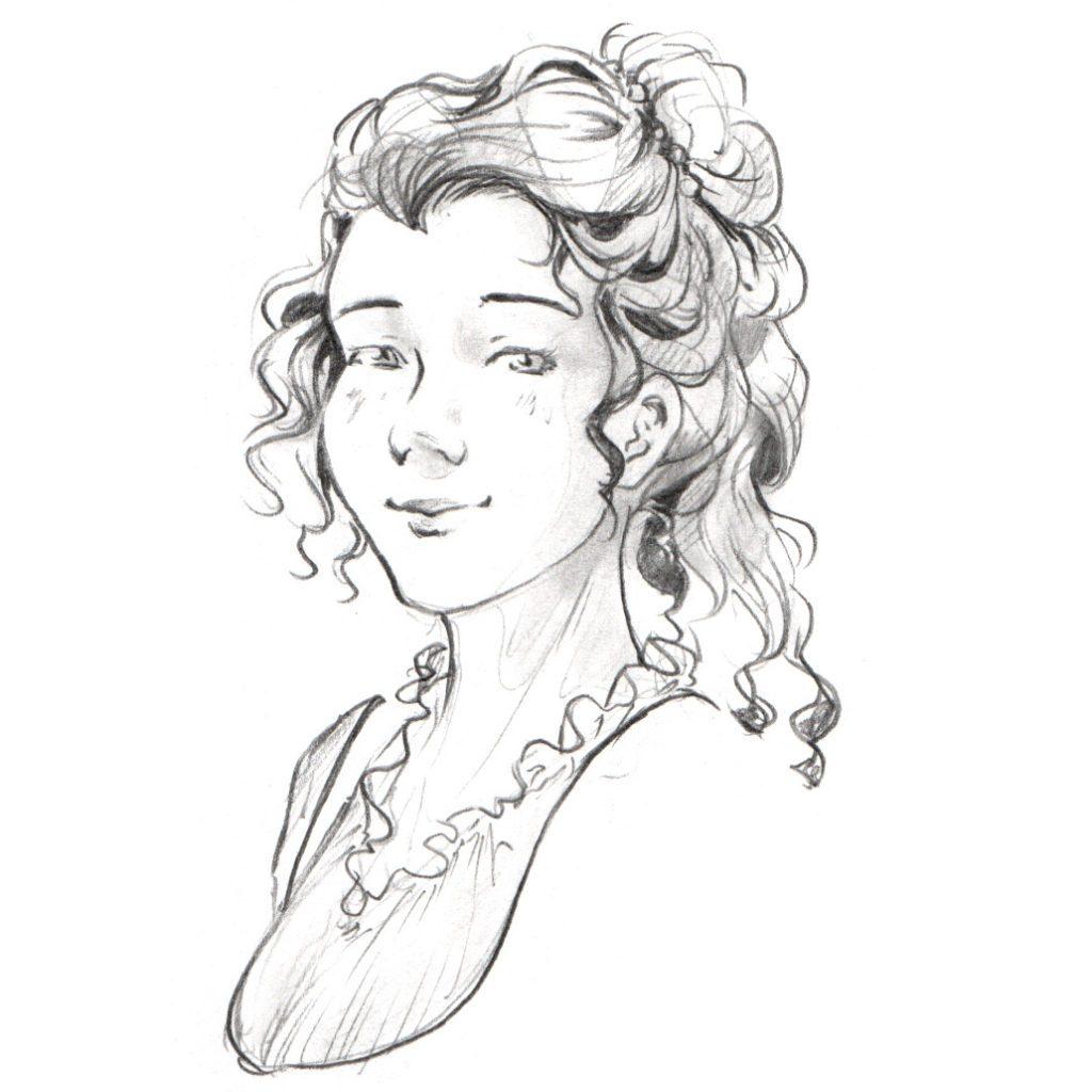 Portrait de Katelyn Holmson, un personnage de Valse à trois
