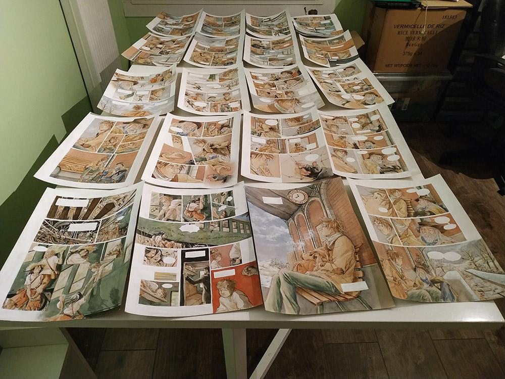 Dernière étape pour faire une BD avec la méthode flocon : la réalisation des planches !